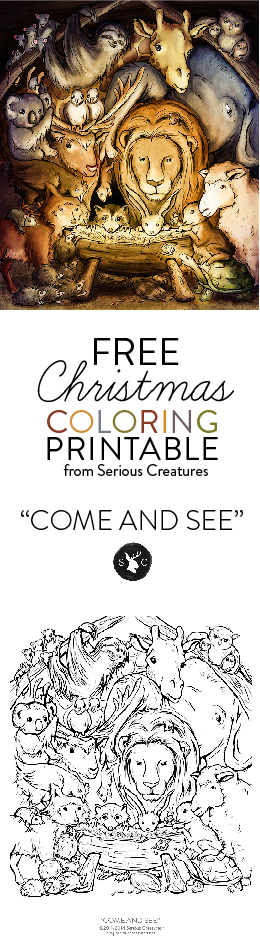 Free Christmas Coloring Page Art from @SeriousCreatures