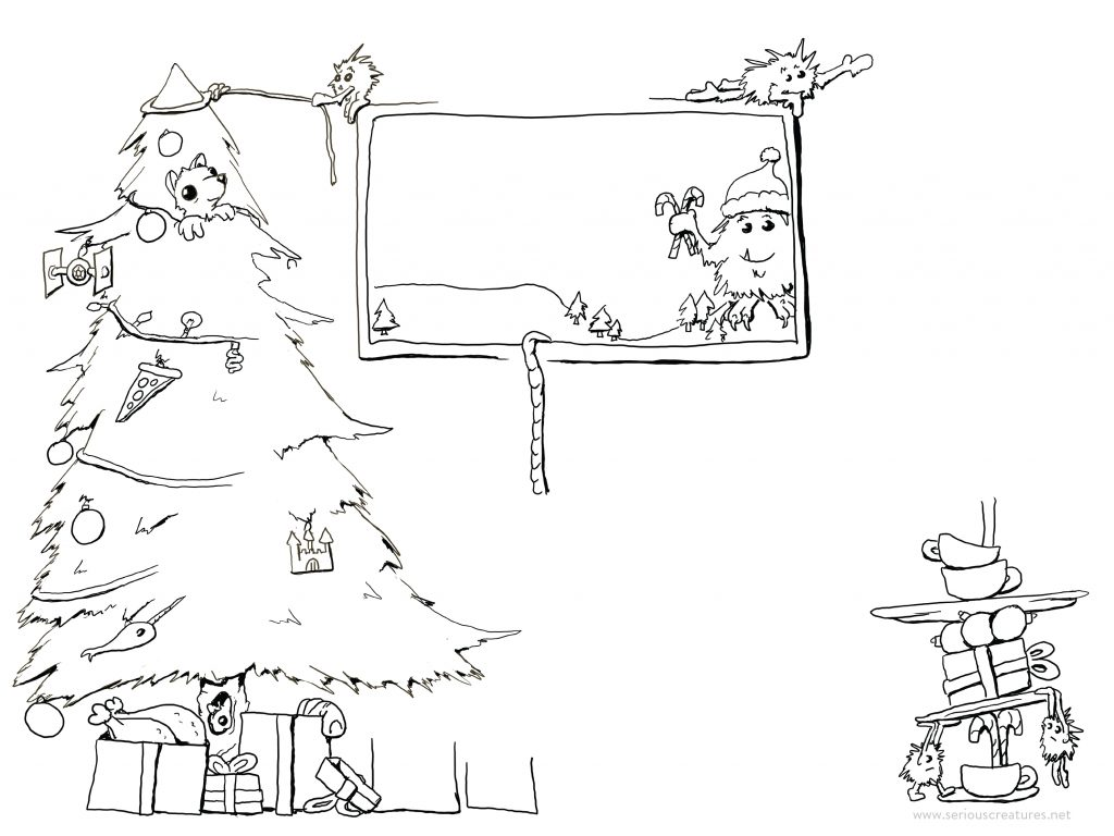 christmas starters coloring pages